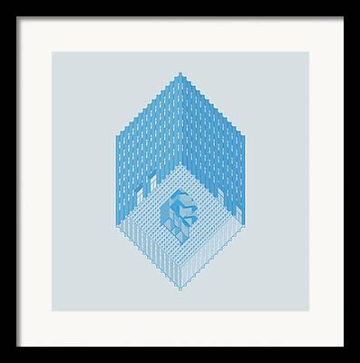 Axonometric Framed Prints
