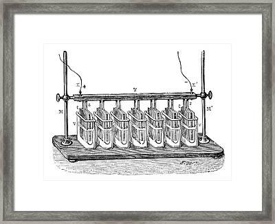 Wollaston Battery Pile Framed Print
