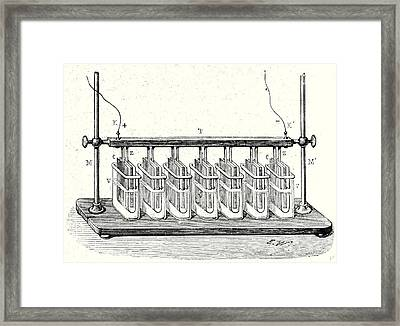 Wollastons Battery In Action Framed Print by English School