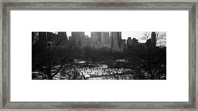 Wollman Rink Ice Skating, Central Park Framed Print
