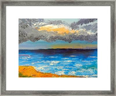 Wollongong Beach Framed Print by Pamela  Meredith