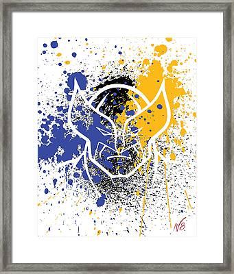 Wolverine Goes Splat Framed Print by Decorative Arts