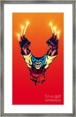 Wolverine  Framed Print by Justin Moore