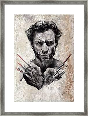 Wolverine Splash Effect Framed Print by Andrew Read