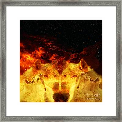 Wolves Cry Framed Print by Ester  Rogers