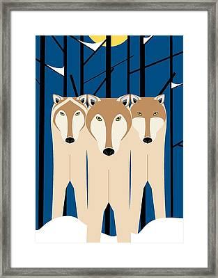 Wolves Framed Print