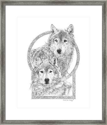Canis Lupus II - Wolves - Mates For Life  Framed Print by Steven Paul Carlson