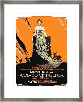 Wolves Of Kultur 1918 Movie Poster Framed Print by Vintage Product Ads