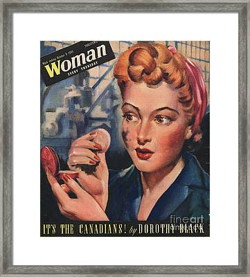 Woman 1943 1940s Uk Women At War Framed Print
