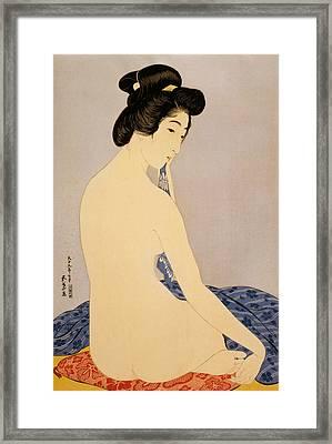 Woman After Bath Framed Print by Georgia Fowler