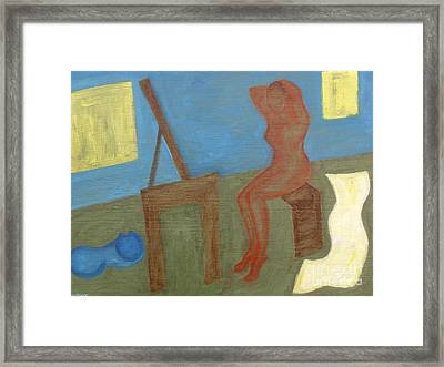 Woman After Bathing Framed Print by Patrick J Murphy