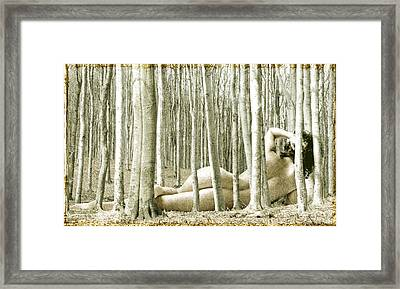 Woman Among Trees Framed Print by Ervin Hajdu