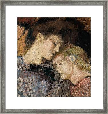 Woman And Child Framed Print by Georges Lemmen
