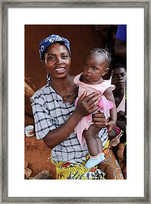 Woman And Child Framed Print by Matthew Oldfield