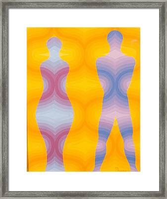Woman And Man Framed Print by Emil Parrag