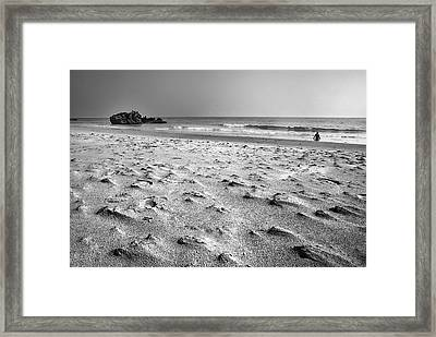 Woman At The Beach Framed Print