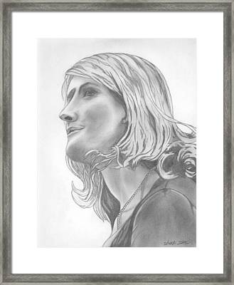 Woman At The Party Framed Print by David  Ortiz