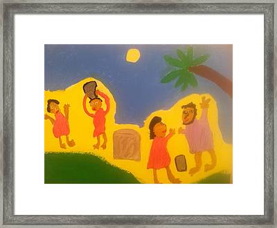 Woman At The Well Framed Print