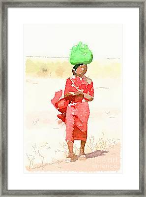 Woman Bag Framed Print by Helge