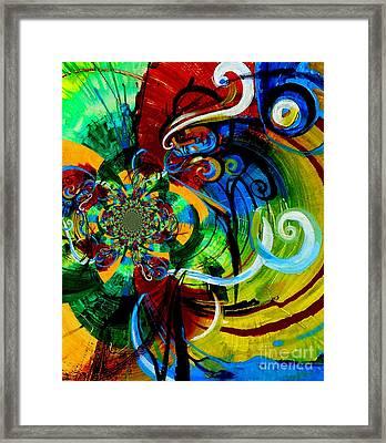 Woman Bass Kaleidoscope Framed Print by Genevieve Esson