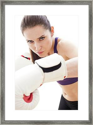 Woman Boxing Framed Print