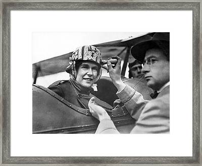 Woman Delivered By Airmail Framed Print by Underwood Archives