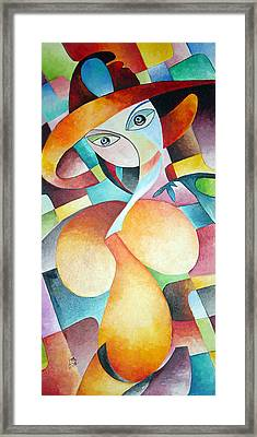 Framed Print featuring the painting Woman by Dorothy Maier
