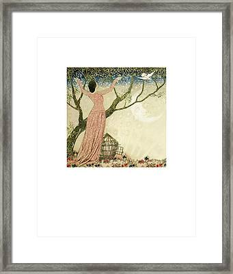 Letting Go Framed Print by Jeeby Designs