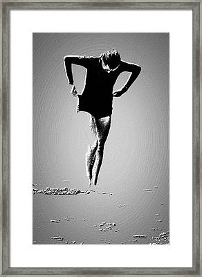 Woman Emerging -- Version A Framed Print by Brian D Meredith