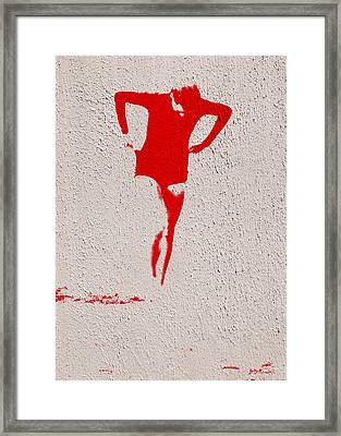 Woman Emerging -- Version J Framed Print by Brian D Meredith
