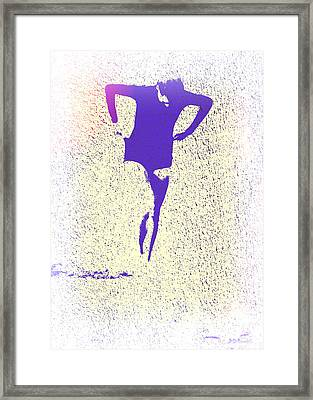 Woman Emerging -- Version K Framed Print by Brian D Meredith