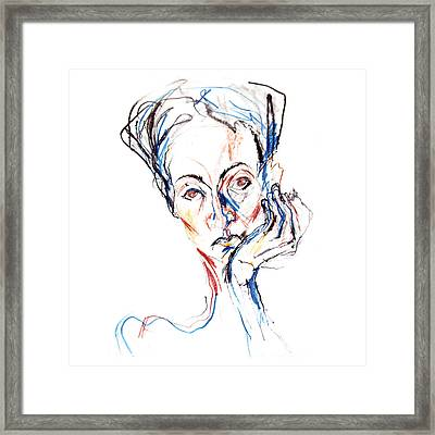 Woman Expression Framed Print by Marian Voicu