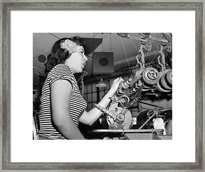 Woman Factory Worker Framed Print