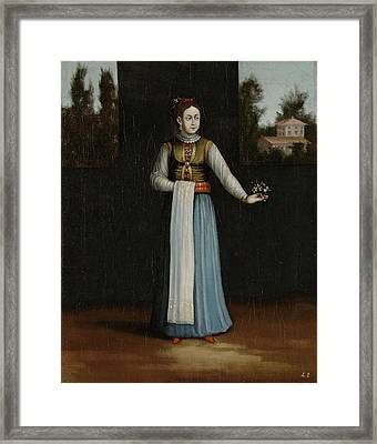 Woman From The Albanian Coast Albania, Workshop Of Jean Framed Print by Litz Collection
