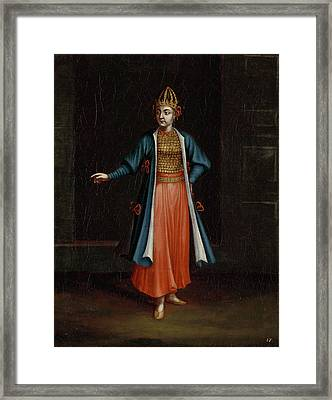Woman From The Bulgarian Coast Bulgaria, Workshop Of Jean Framed Print by Litz Collection