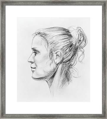 Woman Head Study Framed Print by Irina Sztukowski