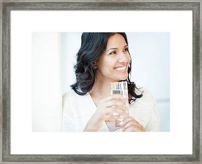Woman Holding Water Framed Print
