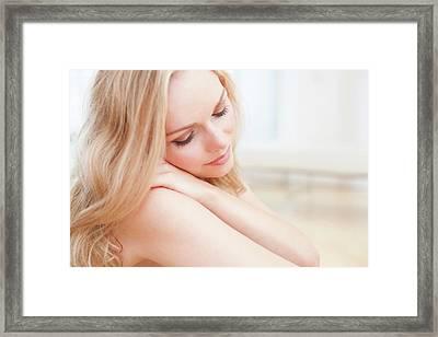 Woman Framed Print by Ian Hooton