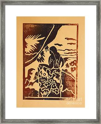 Woman II A La Gauguin Framed Print by Christiane Schulze Art And Photography