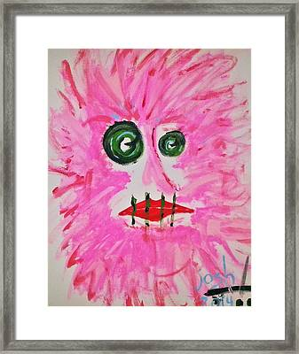 Woman In Abstract Simplicity Framed Print