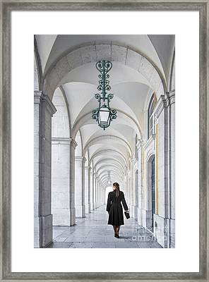 Woman In Archway  Framed Print by Carlos Caetano