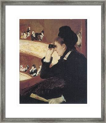 Woman In Black At The Opera Framed Print by Mary Cassatt