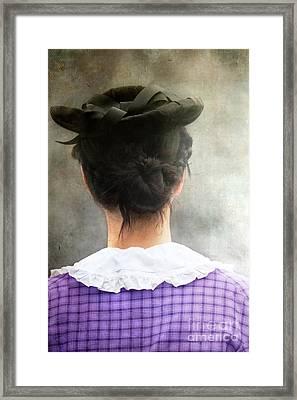 Woman In Black Hat Framed Print by Stephanie Frey