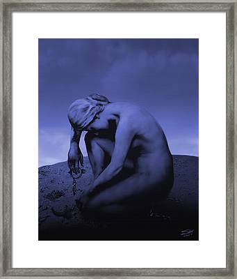 Woman In Chains Framed Print