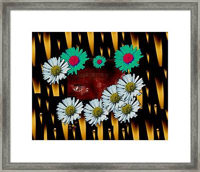 Woman In Flames With Inner Light Framed Print