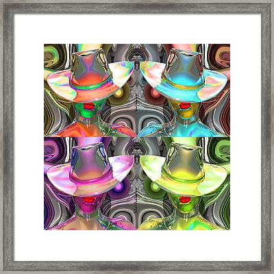 Woman In Glass Framed Print by Robert Maestas