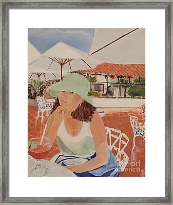 Woman In Mazatlan Framed Print by Debra Chmelina