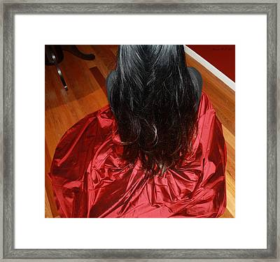 Woman In Silk - Sitting Framed Print
