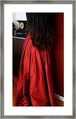 Woman In Silk - Standing Framed Print
