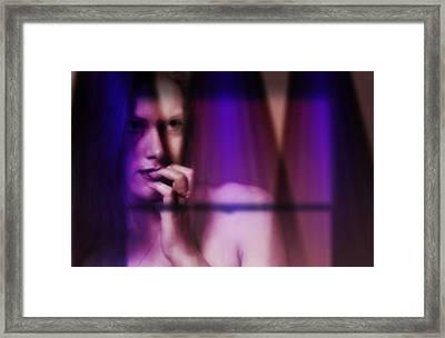 Woman In The Window Framed Print by Bob Pardue